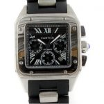 5 Abbildung zum Produkt Cartier Santos 100 black Edition mit schwarzem Ziffernblatt