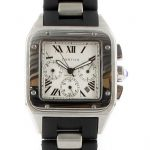 Cartier Santos 100 black Edition mit weissem Ziffernblatt