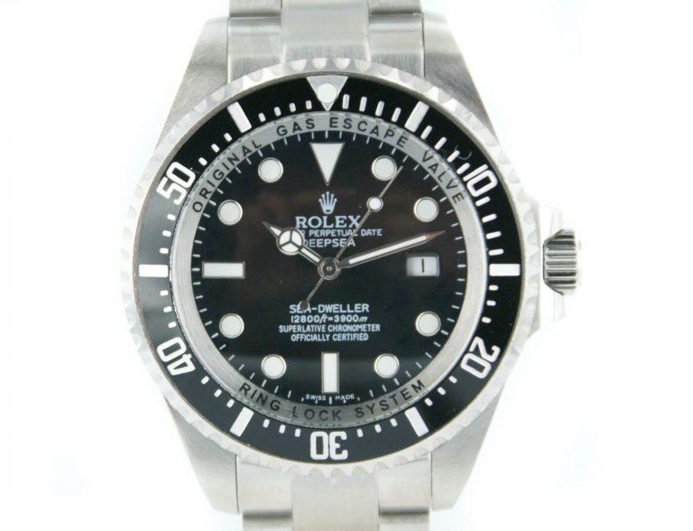 Rolex SeaDweller DeepSea stahl mit schwarzem Zifferblatt