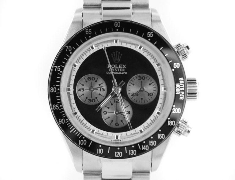 Rolex Daytona Paul Newman stahl - schwarzes Ziffernblatt