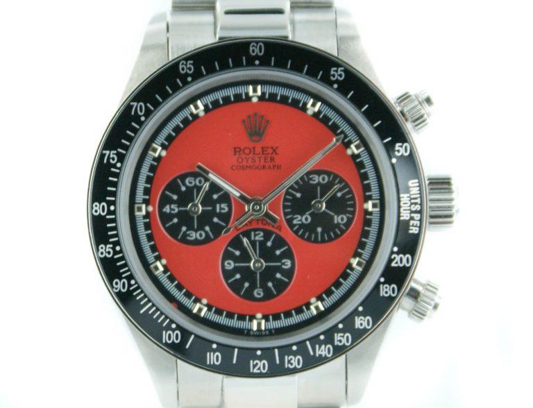Rolex Daytona Paul Newman stahl - rotes Ziffernblatt