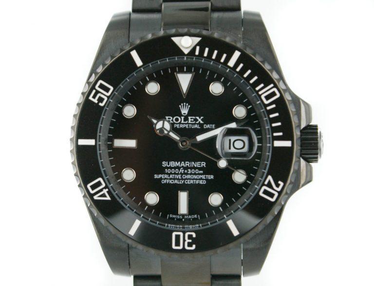 Rolex Submariner PVD schwarz mit schwarzem Zifferblatt