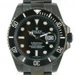 5 Abbildung zum Produkt Rolex Submariner PVD schwarz mit schwarzem Zifferblatt
