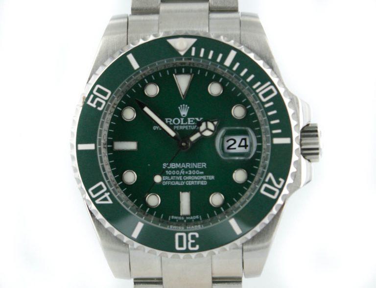 Rolex Submariner 2012 Keramik-Lünette mit grünem Zifferblatt