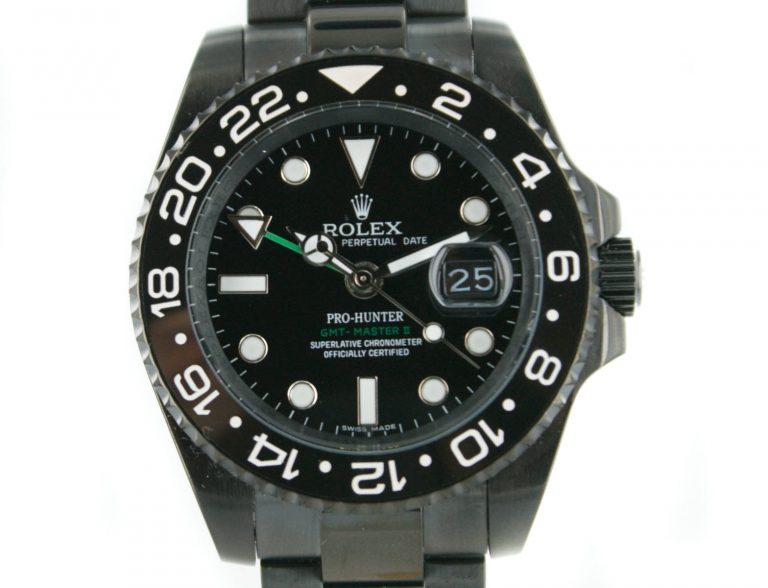 Rolex GMT Prohunter PVD schwarz mit schwarzem Zifferblatt