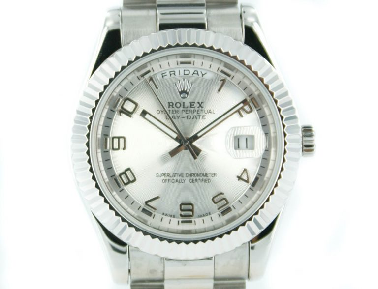 Rolex Day-Date II pearl silber mit President Armband