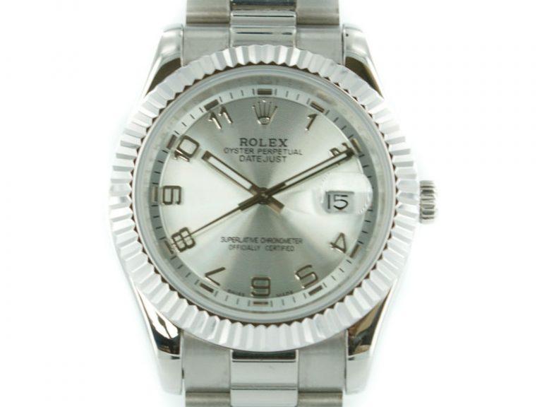 Rolex Datejust II  pearl silber mit stahl Armband