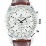 8 Abbildung zum Produkt Breitling Transocean Chronograph weiss Lederband braun