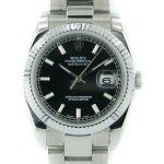 7 Abbildung zum Produkt Rolex Oyster Perpetual Datejust schwarz mit stahl Armband
