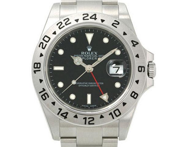 Rolex Explorer II stahl - schwarzes Ziffernblatt