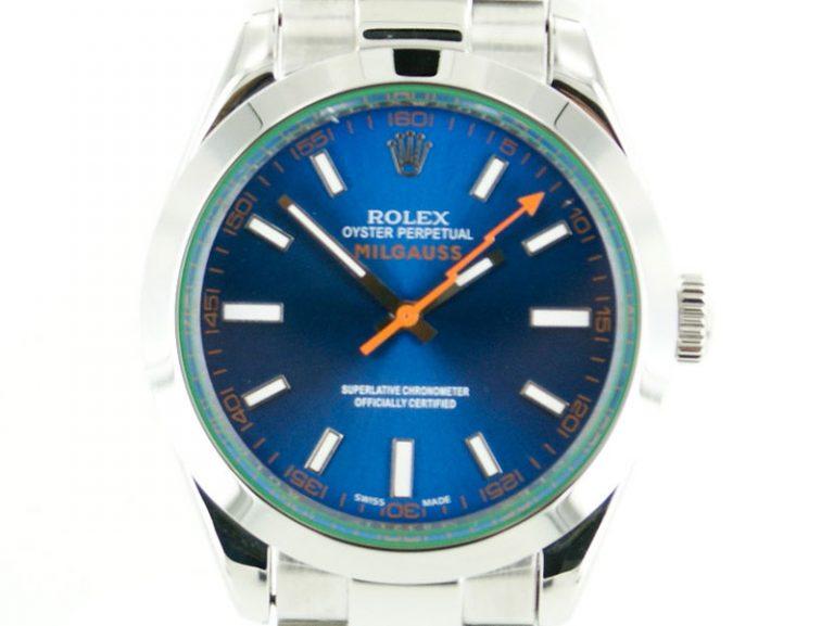 Rolex Milgauss 2015 blaues Ziffernblatt