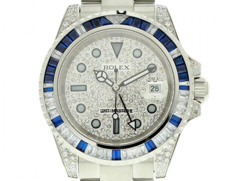 Rolex GMT Master II Diamond und Sapphire Edition