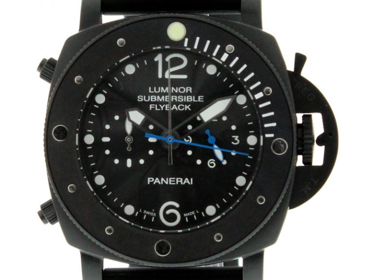 Panerai PAM 615 Luminor Submersible Flyback Black Steel
