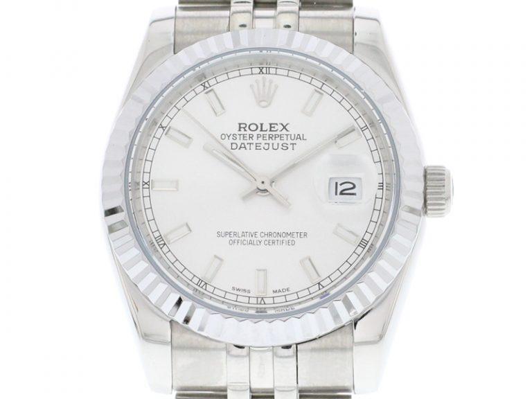 Rolex Datejust 36mm Jubilee Armband silber