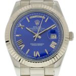 Product:Rolex DayDate II 40mm Zifferblatt blau