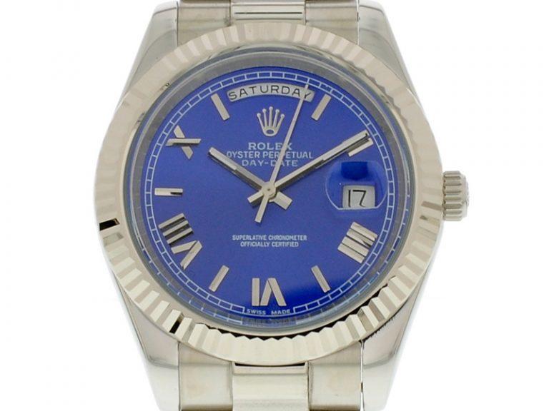Rolex DayDate II 40mm Zifferblatt blau
