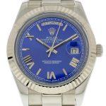 8 Abbildung zum Produkt Rolex DayDate II 40mm Zifferblatt blau