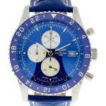 Product:Breitling Chronoliner Royal Blue mit blauem Leder