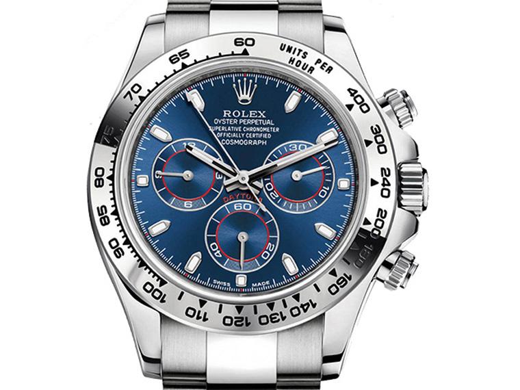 Rolex Cosmograph Daytona 2016 Zifferblatt blau