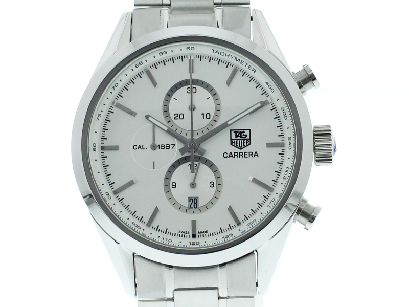 Tag Heuer Carrera Chronograph Tachymeter silber