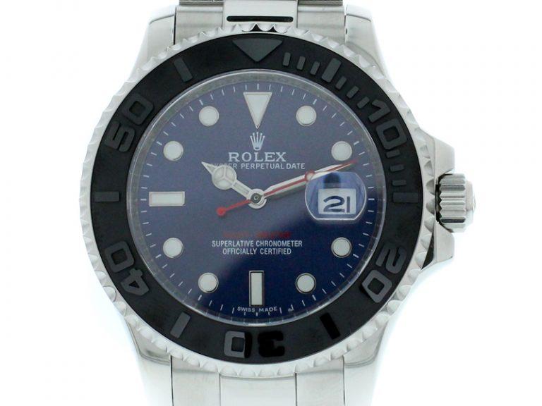 Rolex Yachtmaster Keramik 2017 blaues Zifferblatt