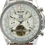 Breitling Bentley Mulliner Tourbillon leder - weiss