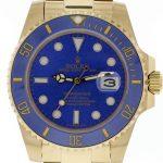 Product:Rolex Submariner Date 18k Gold blaue Keramik-Lünette