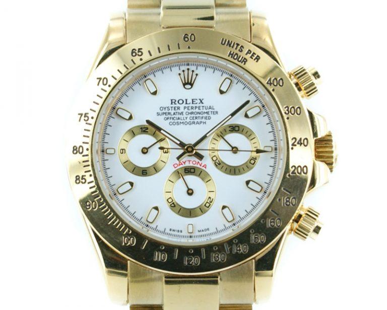 Rolex Daytona gold - weisses Ziffernblatt