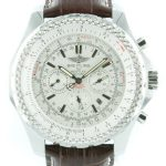 Breitling Bentley Le Mans Chrono leder - weisses Ziffernblatt
