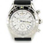 Product:Breitling Chronomat B01 stahl - weiss mit Kautschukband