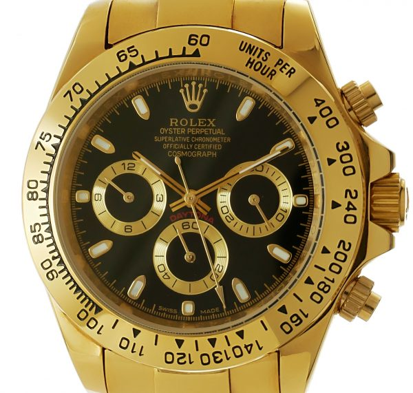 Rolex Daytona gold - schwarzes Ziffernblatt