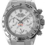 Rolex Daytona stahl - weisses Ziffernblatt
