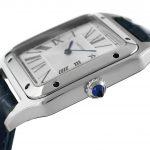 5 Abbildung zum Produkt Cartier Santos Dumont XL Stahl Lederarmband