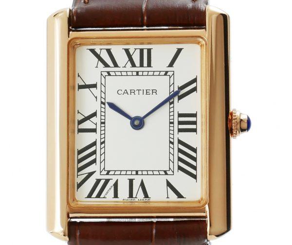 Cartier Tank Solo XL Rosegold Lederarmband