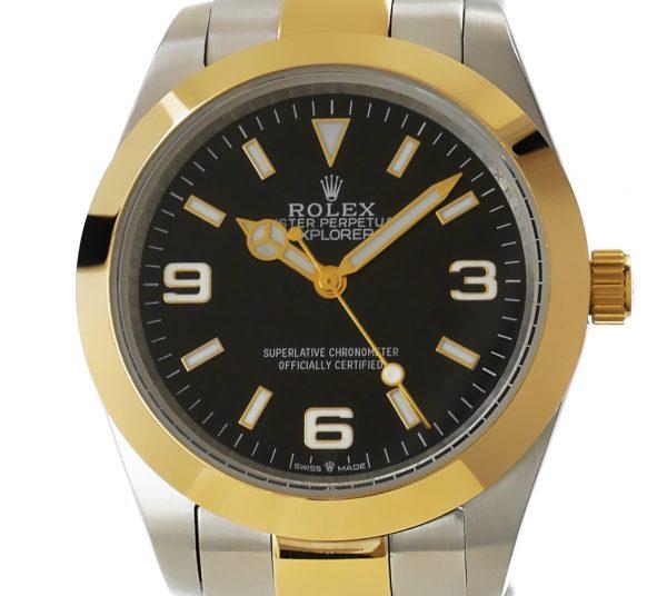 Rolex Explorer - Edelstahl Gelbgold 36mm